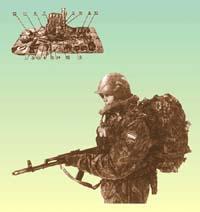 Солдат российской армии в полном