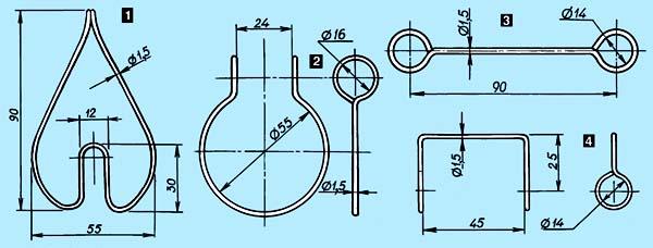 На миллиметровке вычертите в натуральную величину проекции деталей.  С помощью мягкой проволоки (медной или...