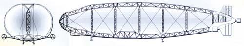 Схема силовой конструкции ДЦ-Н1
